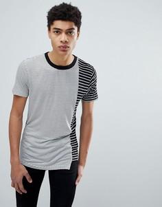 Асимметричная футболка со вставками D-Struct - Черный