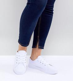 Кроссовки для широкой стопы ASOS DESIGN Daisy - Белый