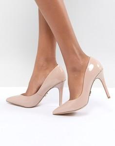 Туфли-лодочки с острым носком и золотистой отделкой Lipsy - Розовый