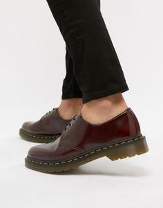 Красные туфли с 3 парами люверсов Dr.Martens 1461 - Красный