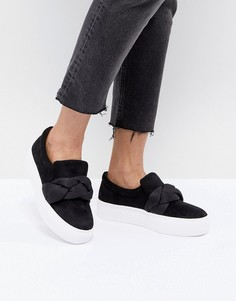 Черные кроссовки oversize на платформе Lost Ink - Черный