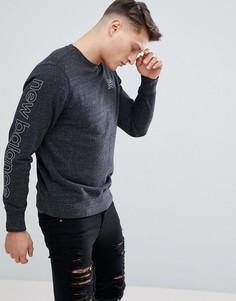 Серый меланжевый свитшот New Balance MT81568_HG - Серый