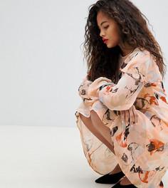 Платье А-силуэта с принтом Y.A.S Tall - Мульти