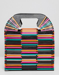 Разноцветный клатч из бамбука ASOS DESIGN - Мульти