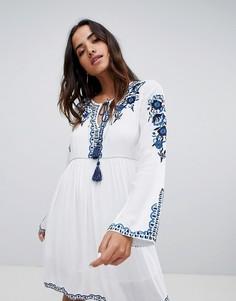 Платье-туника с вышивкой Raga - Синий