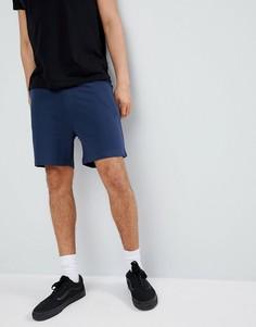 Классические шорты из бархатистого трикотажа Another Influence - Темно-синий
