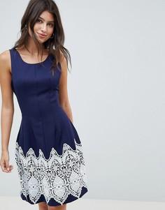 Платье с контрастным принтом Louche - Темно-синий