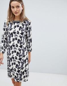Свободное платье с цветочным принтом In Wear Baia - Кремовый