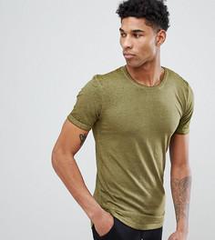 Удлиненная футболка D-Struct TALL - Зеленый