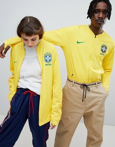 Желтая спортивная куртка на молнии Nike Football Brazil 893584-749 - Желтый