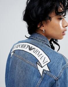 Джинсовая куртка с логотипом Emporio Armani - Синий