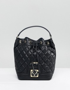 Стеганая сумка Love Moschino - Черный