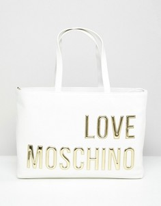 Сумка-тоут Love Moschino - Кремовый