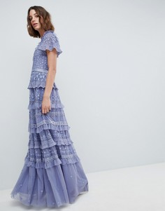 Платье макси с высоким воротом Needle & Thread - Фиолетовый