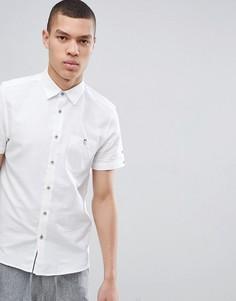 Белая облегающая рубашка с короткими рукавами Ted Baker - Белый