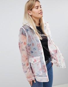 Куртка-дождевик с цветочным принтом ASOS DESIGN - Мульти