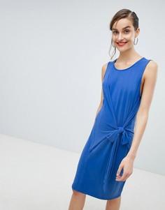 Платье с поясом Selected - Синий