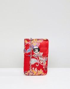 Жаккардовая сумка через плечо Yoki Fashion - Красный