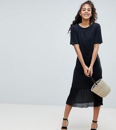 Платье-футболка миди ASOS DESIGN Tall - Черный