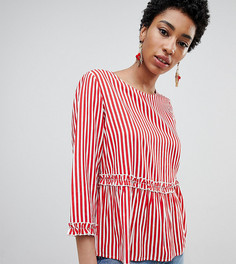 Блузка в полоску с оборками Vero Moda Tall - Мульти