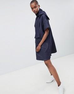 Джинсовое платье ASOS WHITE - Синий