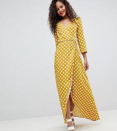 Платье макси в горошек с запахом Y.A.S Tall - Мульти