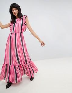 Платье макси в полоску Vero Moda - Мульти