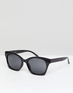 Солнцезащитные очки кошачий глаз Pieces - Черный