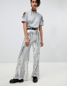 Расклешенные брюки с пайетками Ragyard - Мульти