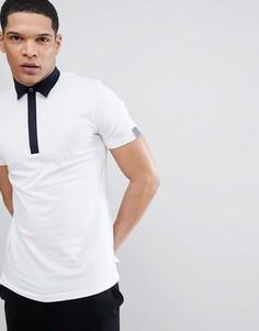 Белая футболка-поло с контрастным воротником Antony Morato - Белый