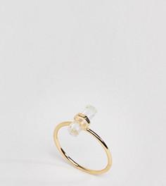 Серебряное кольцо с позолотой 18 карат Shashi - Золотой