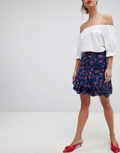 Мини-юбка с цветочным принтом Esprit - Мульти