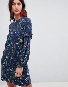 Платье со сплошным цветочным принтом Esprit - Мульти
