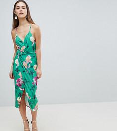 Платье миди на бретельках с цветочным принтом ASOS DESIGN Petite - Мульти