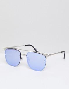 Солнцезащитные очки-авиаторы Quay Australia Private Eyes - Серый