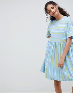 Свободное платье в полоску ASOS DESIGN - Мульти