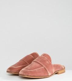 Бархатные лоферы без задника Free People - Розовый