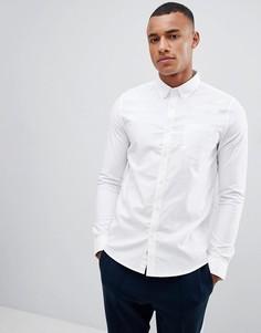 Белая оксфордская рубашка с длинными рукавами Burton Menswear - Белый
