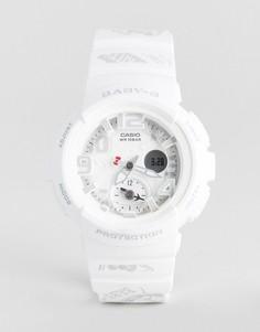 Белые цифровые часы с силиконовым ремешком Baby-G By Casio X Hello Kitty - Белый