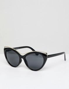 Солнцезащитные очки кошачий глаз с градиентными стеклами AJ Morgan - Бежевый