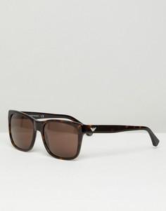 Квадратные солнцезащитные очки Emporio Armarni - Коричневый