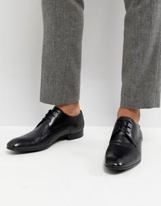 Черные кожаные дерби Base London Elgar - Черный