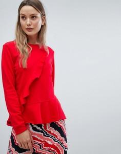 Свитер с оборками In Wear - Красный