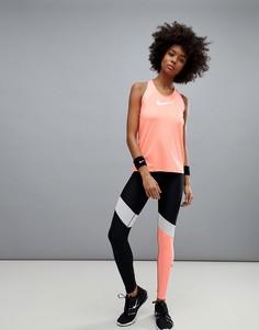 Леггинсы в стиле колор блок Nike Training Power - Мульти