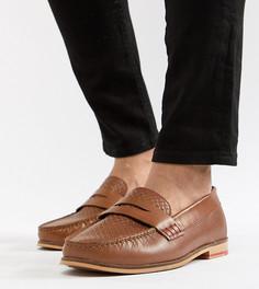 Светло-коричневые кожаные лоферы для широкой стопы Silver Street - Рыжий