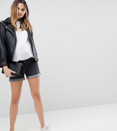 Джинсовые шорты со съемной вставкой для животика Bandia Maternity - Черный