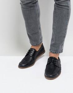 Черные кожаные туфли на шнуровке Silver Street - Черный