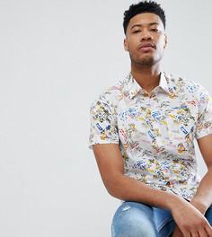 Рубашка с короткими рукавами и гавайским принтом Bellfield TALL - Белый