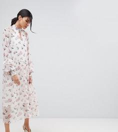 Платье миди с цветочным принтом Y.A.S Tall - Мульти