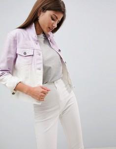 Джинсовая куртка с эффектом омбре Noisy May - Фиолетовый
